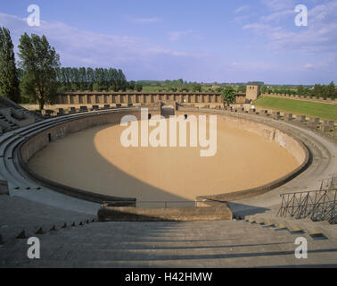 Germany, North Rhine-Westphalia, the Lower Rhine, Xanten, archaeological, park, amphitheatre Europe, town, Roman's - Stock Photo