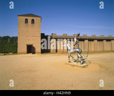 Germany, North Rhine-Westphalia, the Lower Rhine, Xanten, archaeological, park, sculpture, Europe, town, Roman's - Stock Photo