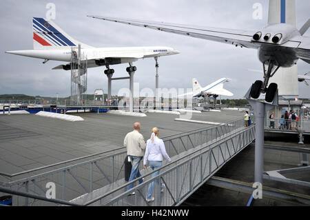 Germany, Baden-Wurttemberg, home Sins, technology museum, uncovered area, airplanes, - Stock Photo