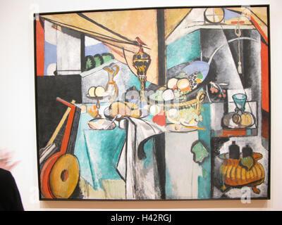 Paintings, 'the Still Life after Jan Davidsz. de Heem's' La Desserte'', in 1915, artists Henry Matisse, artist's - Stock Photo