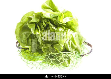 Lettuce, string bag, - Stock Photo