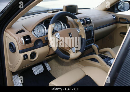 car porsche gemballa cayenne cockpit dashboard no property release stock photo 23488057 alamy. Black Bedroom Furniture Sets. Home Design Ideas