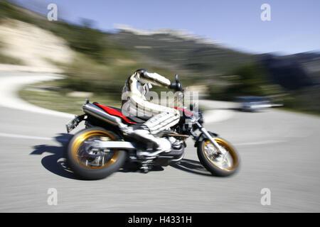 Motorcycle, single cylinder engine fun bikes, Aprilia - Stock Photo
