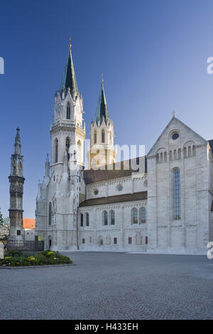 Austria, Lower Austria, cloister new castle, Augustinian's pen, outside, - Stock Photo