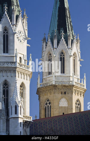 Austria, Lower Austria, cloister new castle, Augustinian's pen, towers, Gothic, detail, - Stock Photo
