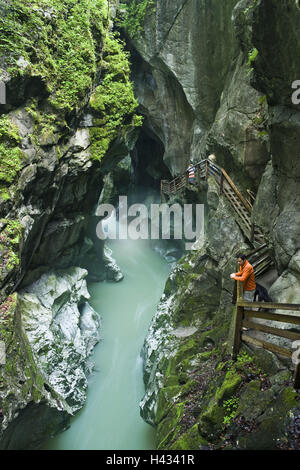 Austria, Salzburg country, gorge, gulch, Salzachöfen, tourist, - Stock Photo