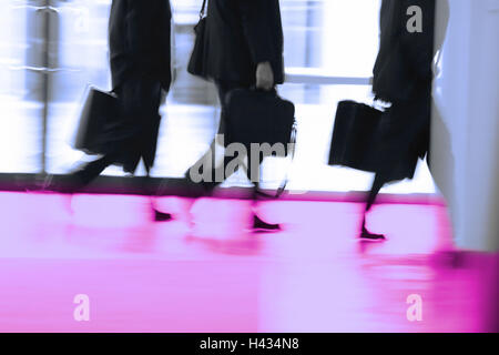 Goes hall, business people, back-opinion, detail, series people people businessmen men, file-suitcases, portfolios, - Stock Photo
