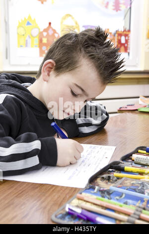 Classrooms, schoolboys, lessons, write, - Stock Photo