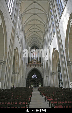 Germany, Saxony-Anhalt, Magdeburg, cathedral, interior view, cathedral, St. Mauritius and Katharina, Gothic, landmarks, - Stock Photo