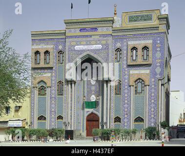United Arab Emirates, Dubai, borer Dubai, mosque, tiles, brightly, VAE, town, part town, Old Town, Old Town fourth, - Stock Photo