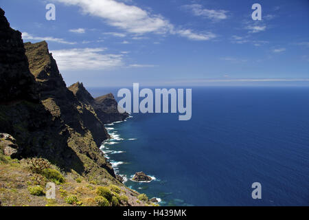 Spain, Canary islands, grain Canaria, west coast, - Stock Photo