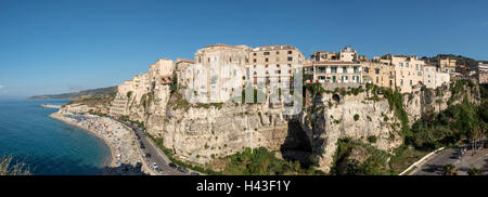 Panoramic view of Tropea, Calabria, Italy - Stock Photo