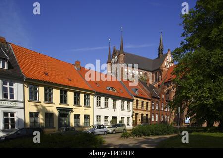 Germany, Mecklenburg-West Pomerania, Wismar, St. Georgen church, Old Town, - Stock Photo