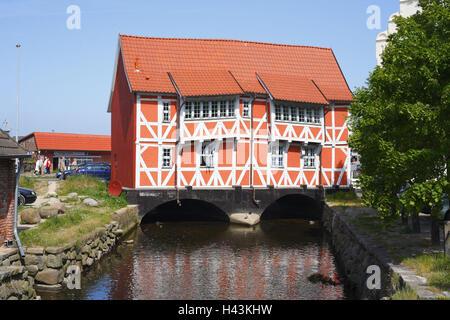 Germany, Mecklenburg-Western Pomerania, Wismar (city), timbered house, vault, - Stock Photo