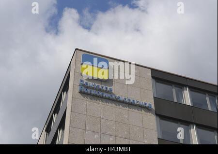 Germany, Bavaria, Bayreuth, German pension scheme, building, logo, - Stock Photo