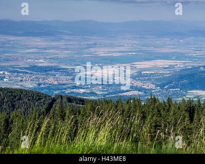 View of Sofia from Vitosha National Park, Bulgaria - Stock Photo