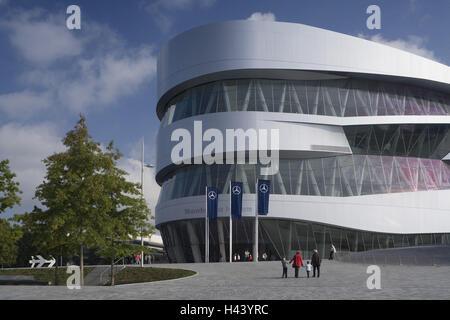 Germany, Baden-Wurttemberg, Stuttgart, Mercedes Museum, Passer-by, - Stock Photo