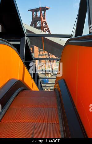 Gangway for coal washing, pit 12, World Heritage Zollverein, Essen, North Rhine-Westphalia, Germany, - Stock Photo