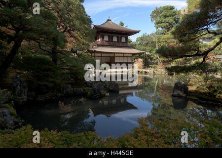 Kyoto, Japan - Nov 11, 2015: Ginkakuji Temple and Garden Kyoto, Japan. Ginkaku-ji  lit. 'Temple of the Silver Pavilion'. - Stock Photo