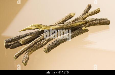 Sweet wooden, Glycyrrhiza glabra, dryly, legumes, liquorice, drug, drug, food, nature cuisine, spice, sweet wooden - Stock Photo