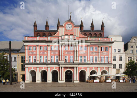 Germany, Mecklenburg-Western Pomerania, Rostock, New Market, City Hall - Stock Photo