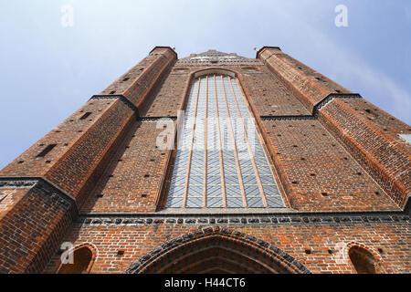 Germany, Mecklenburg-West Pomerania, Wismar, St. Georgen church, facade, detail, - Stock Photo