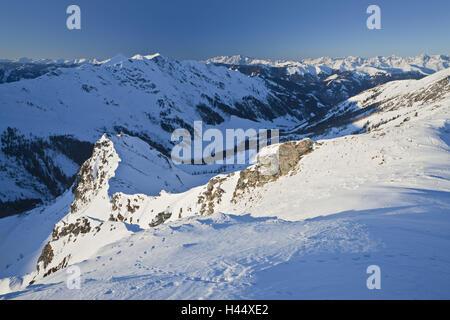 Austria, Salzburg, Rauristal, Hohe Tauern, mountain landscape, winter, - Stock Photo