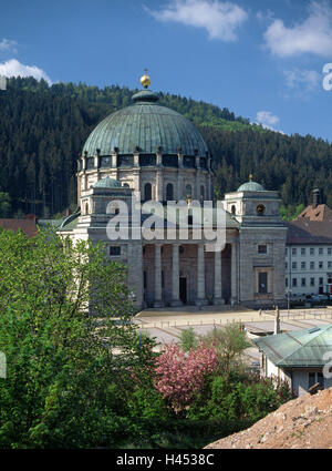 Germany, Baden-Wurttemberg, St. Blasien, cathedral, summer, Black Forest, church, parish church, minster, dome church, - Stock Photo