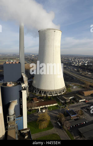 Coal-fired power station, cooling tower, energy production, - Stock Photo