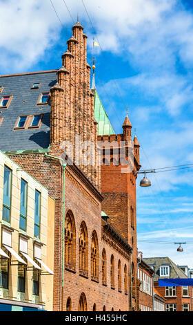 The city hall of Elsinore or Helsingor in Denmark - Stock Photo