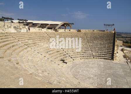 Cyprus, Greek part, Kourion, amphitheatre, - Stock Photo