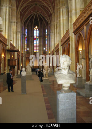 Germany, Berlin, Friedrichswerdersche church, interior view, statues, busts, town, capital, building, structure, - Stock Photo