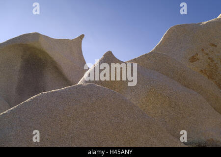 Italy, Sardinia, 'Capo of Testa', valley 'Valle di of Luna', rock structure, - Stock Photo
