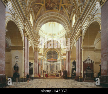Malta, Mdina, St. Peter and Paul's cathedral, interior shot, island, Mediterranean island, destination, place of - Stock Photo