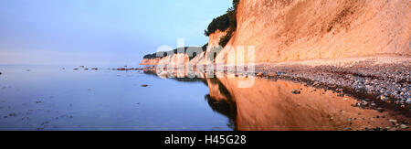 National park Jasmund, chalk coast, morning light, island Rügen, Mecklenburg-Western Pomerania, Germany, - Stock Photo