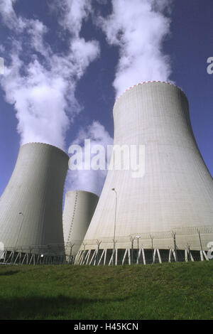 The Czech republic, South Bohemia, Temelin, nuclear power plant, cool towers, - Stock Photo