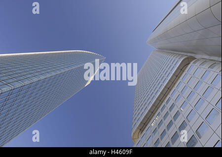 Germany, Hessen, Frankfurt on the Main, Skyper, the Dresdner Bank, bank high rises, - Stock Photo