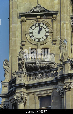 The Brook Theatre and former Town Hall clock. Chatham. Medway. Kent. England. UK - Stock Photo