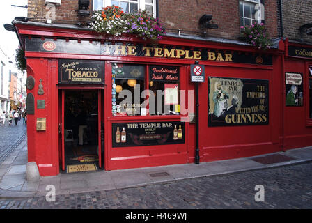 Ireland, Dublin, part town Temple bar, pub, The Temple bar, - Stock Photo