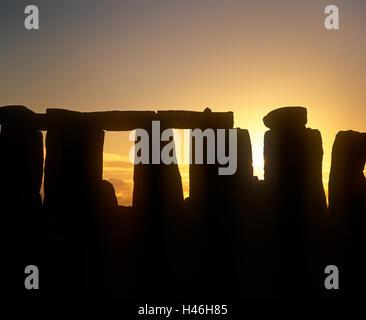 Stonehenge, Wilkshire - Stock Photo