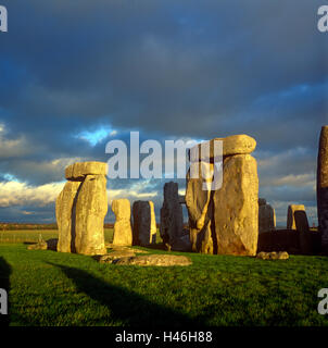 Stonehenge Wilkshire, England, UK - Stock Photo
