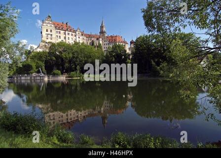 Germany, Baden-Württemberg, Sigmaringen, castle, the Danube, - Stock Photo