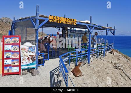 Greece, island Fondling, tavern sews Embros Therme, - Stock Photo