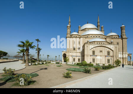 Egypt, Cairo, Mohammed Ali Moschee, also alabaster mosque, in the stronghold, - Stock Photo