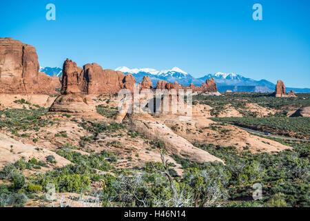 Garden of Eden, Arches National Park, Utah, USA - Stock Photo