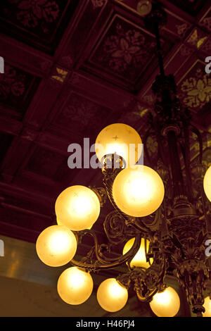Austria, Vienna, Demel, ceilings, chandeliers, hang, - Stock Photo