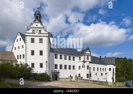 Lauenstein Castle, Ore Mountains, Saxony, Germany - Stock Photo