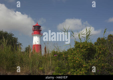 Germany, Schleswig - Holstein, region Angeln, lighthouse Falshöft, - Stock Photo