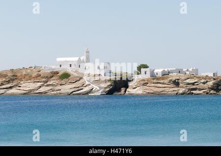 Monastery of Chrisopigi, island Sifnos, the Cyclades, Greece, - Stock Photo