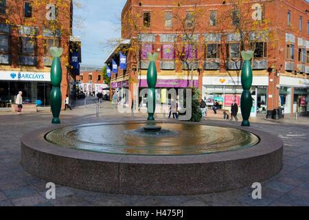 Warrington Town centre. - Stock Photo